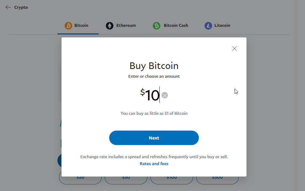 How to Pay Bitcoins using your Paypal Account img3