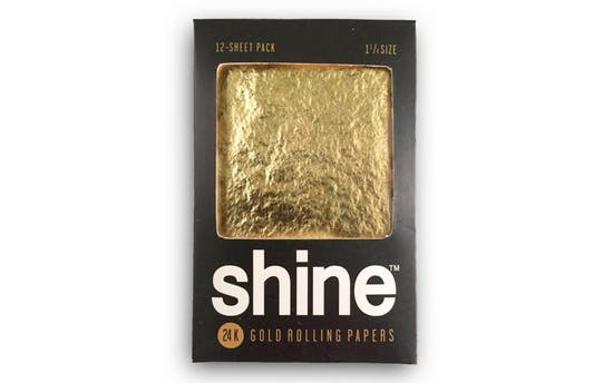 Shine gold cannabis infused papers